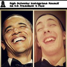 joindarkside » High Schooler Instagrams Himself as US President (5 Pics)