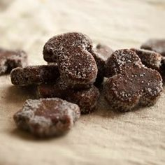 Basler- Brunsli, traditional Swiss cookies, with chewy chocolate spicy flavor