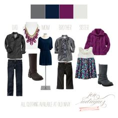 Family clothing inspiration by Jen Rodriguez.  Love this color combo
