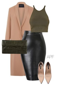 """Khaki Touch"" by apf-style on Polyvore featuring Lanvin, Zara, C/MEO COLLECTIVE and Nancy Gonzalez"