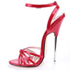 Women High Heel Stiletto Sandals Peep Toe Sexy Prom Party Shoes Clubwear Plus Sz - High Heels Super High Heels, Hot High Heels, Leather High Heels, High Heels Stilettos, Womens High Heels, Pumps, Patent Leather, Leather Sandals, Stiletto Shoes