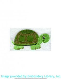 Stickmotiv Stickbild Aufnäher Stickerei Emblem Schildkröte  Schildkröte /  Stickerei Playful Turtle (H5385)
