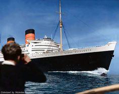 RMS Queen Elizabeth.
