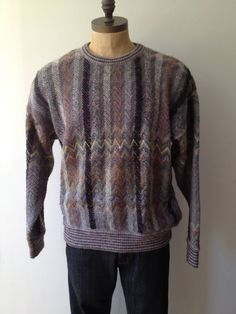 Vintage MENS Jantzen Sport striped & speckled wool by pandaJpanda, $28.00