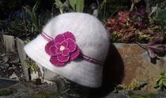 Sweet Floral Angora Cloche Hat by Lachellybelly on Etsy, $15.00 LOVE!