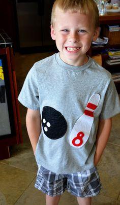 Birthday boy bowling shirt