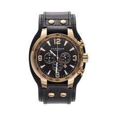 60c0c6a4870e Men s Akribos XXIV Extremis Leather Chronograph Watch - (Sale Savings) How  To Look Handsome