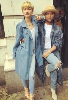 Zendaya in double #denim outfit
