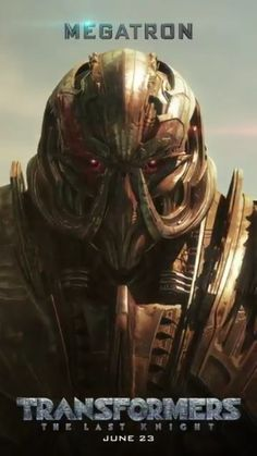 Megatron in Transformers: The Last Knight promotional motion poster