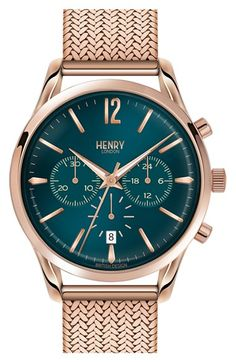 Henry London 'Stratford' Chronograph Bracelet Watch, 38mm