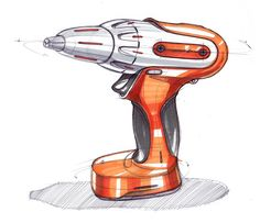 Sketch-A-Day 102: Cordless Drill | Sketch-A-Day | Sketches by Spencer Nugent