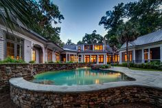 Gorgeous Swimming Pool | Custom Built Luxury Pool | Outdoor Living | Luxurious Outdoor Retreat | Luxury Real Estate Bluffton, South Carolina