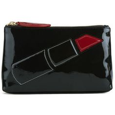 Lulu Guinness Women's Lipstick T-Seam Clutch Bag - Black