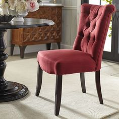 Hourglass Dining Chair  Red Velvet  Eatin Kitchens  Pinterest Captivating Dining Room Chairs Red Inspiration Design