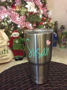 PERSONALIZED YETI RAmbler 20 oz. STAIN STEEL  *Personalized your tumbler with a high quality outdoor vinyl decal!  *Initials in exactly the order