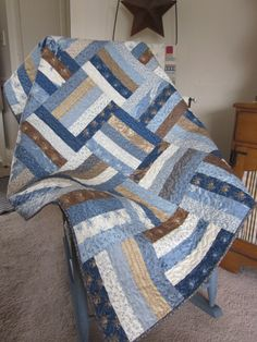 Blueberry Crumb Cake Quilted Lap Quilt by thePATchworksshop, $150.00