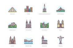 332 Landmarks on Behance Japan Icon, Japan Landscape, City Drawing, City Icon, Flag Icon, Travel Icon, Travel Tips, Insta Icon, Travel Illustration