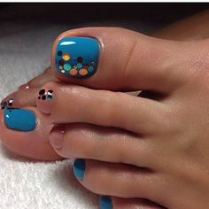 40 toe nail art designs to keep up with trends 021 Pretty Toe Nails, Cute Toe Nails, Fancy Nails, Gorgeous Nails, Fabulous Nails, My Nails, Nice Nails, Pretty Toes, Jamberry Nails