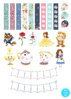 With Disney's Beauty and the Beast now in theaters, these printable Beauty and the Beast Planner Stickers are just the thing your planner needs!