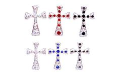 Linda Fashion Cross Stud Earrings Silver 12 Count *** Read more at the image link. Hair Pins, Count, Image Link, Hair Accessories, Stud Earrings, Amazon, Detail, Silver, Beauty