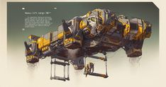 Spaceships by Ivan Laliashvili. Keywords: heavy lift cargo vehicle spaceship concept space art scene sci-fi concept illustrations pai...
