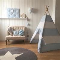 Teepee Tent Stripes Blue