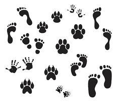 ~ Footprints KLDezign SVG