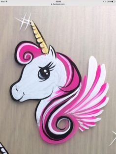 Einhorn Design - Famous Last Words Face Painting Unicorn, Girl Face Painting, Unicorn Face, Face Painting Designs, Painting For Kids, Body Painting, Make Unicornio, Christmas Face Painting, Cheek Art