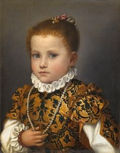 Portrait of a girl of the Redetti family by Giovanni Moroni