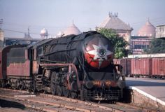 Made in Canada Steam Locomotive WP 7544 at Agra, October 1988.