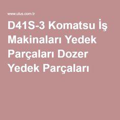 D41S-3 Komatsu İş Makinaları Yedek Parçaları Dozer Yedek Parçaları