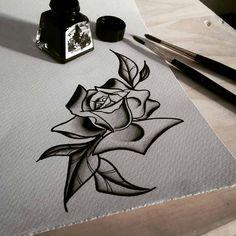 Neo traditional rose by Ivan Yourik IG @ivanyourik