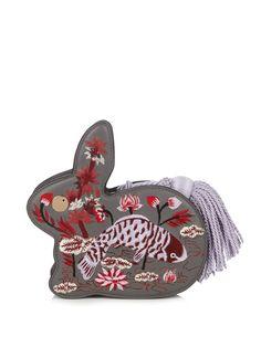 Bunny embroidered leather clutch | Hillier Bartley | MATCHESFASHION.COM AU