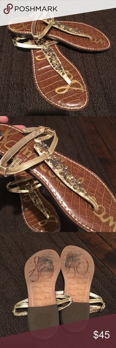 Sam Edelman Gold Jewel Sandals - Size 6 Sam Edelman Gold Jewel Sandals - Size 6. Excellent condition. Sam Edelman Shoes Sandals