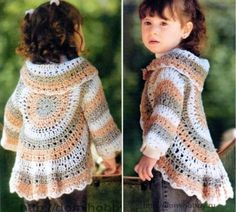 Boleros Toddler Circle Crochet Bolero Jacket Free Pattern - We have put together a collection of Crochet Circular Jacket Pattern Free Ideas that you are going to love. This is one of our most popular posts, check them out now. Diy Crochet Cardigan, Crochet Jacket, Crochet Toddler Sweater, Bolero Crochet, Crochet Sweaters, Baby Cardigan, Pull Crochet, Free Crochet, Crochet Granny