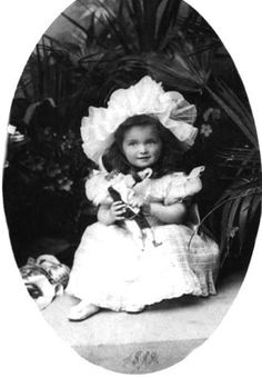 Grand Duchess Olga Nikolaevna of Russia, eldest daughter of Emperor Nicholas II and Empress Alexandra. Photo from 1898, about age 3.