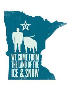 Led Zeppelin & Minnesota in a sweet art print? I think so. Minnesota: Ice & Snow Art Print by Erik Evensen