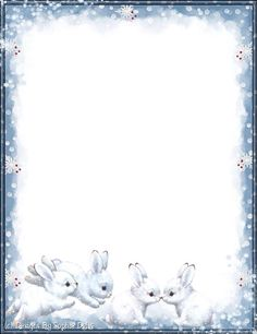 I love bunnies! Borders For Paper, Borders And Frames, Printable Scrapbook Paper, Printable Paper, Christmas Letterhead, Disney Frames, Boarder Designs, Free Christmas Printables, Frame Clipart