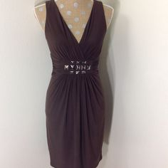 Fabulous Max & Cleo dress. This dress is gorgeous. The color is coffee. In excellent condition. 94% polyester and 6% spandex. Max & Cleo Dresses