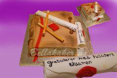 Morsom kake til Studenter og andre som har mye med bøker å gjøre.  www.bellakaker.no
