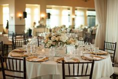 Soft, Warm Décor at the Reception   Photography: Gloria Mesa Photography.  Read More: http://www.insideweddings.com/weddings/light-airy-and-relaxed-seaside-wedding-with-soft-color-scheme/748/