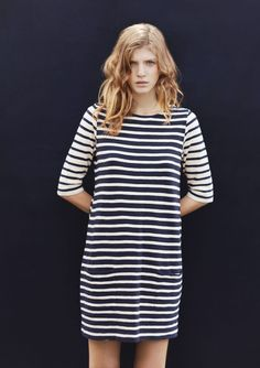 {striped tunic dress} TOAST 2013 - love it Fashion Models, Fashion Outfits, Dress Fashion, Modelos Fashion, Nautical Fashion, Stripes Fashion, Couture, Striped Dress, Dress To Impress