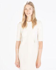 ZARA - WOMAN - SEAMED DRESS WITH FLAPS