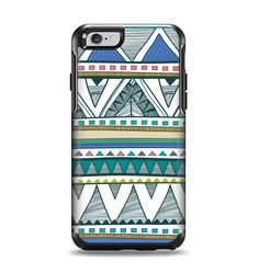 2886332690f4e6 The Abstract Blue and Green Triangle Aztec Apple iPhone 6 Otterbox Symmetry  Case Skin Set
