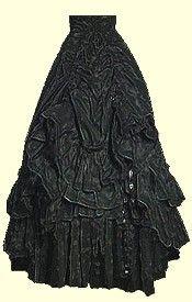 Black frilled Victorian Lolita skirt