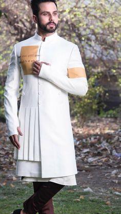 Uwaish Indian Men Fashion, Mens Fashion Wear, Men's Fashion, Indian Groom Wear, Indian Wear, Kurta Pajama Men, Boys Kurta Design, Designer Suits For Men, Designer Coats