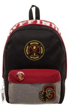 If the Gryffindor Quidditch team had their own official backpacks, they'd look exactly like this Harry Potter Gryffindor Backpack.