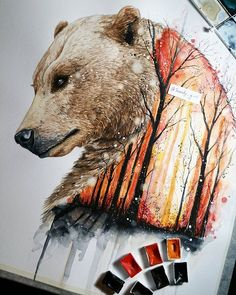 21 year old Artist Jonna Lamminaho residing in Finland, Kemijarvi who creates breathtaking fine art pieces that remind us to preserve nature and wild spirit behind some of the beautiful animal. Animal Paintings, Animal Drawings, Art Drawings, Gcse Art Sketchbook, Tiger Art, Desenho Tattoo, Bear Art, Wildlife Art, Les Oeuvres