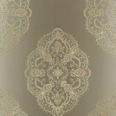 2618-21334 Aqua Global Medallion - Mirador - Alhambra Wallpaper by Kenneth James