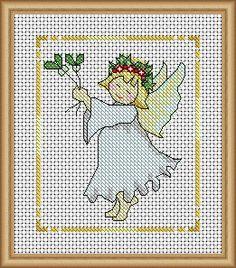 Mistletoe & Holly Angel - PDF Cross Stitch Patterns - Instant Download